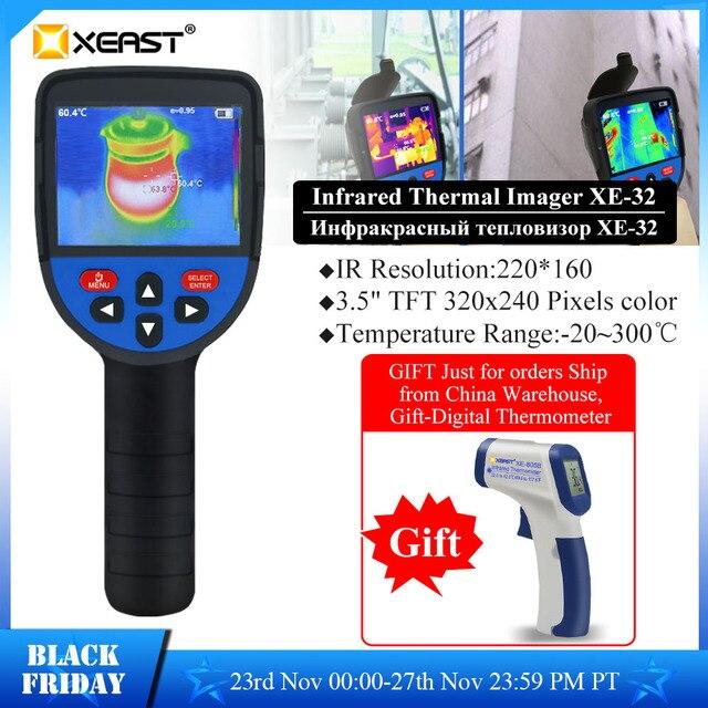 Szybka dostawa XEAST 3.5 Cal duży ekran podczerwieni ręczna kamera termowizyjna HD obraz XE 31 160*120 / XE 32 220*160