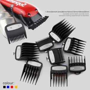 Image 2 - אוניברסלי זהב גלוון חשמלי שיער קליפר מסרק גבול מדריך מצורף 8 חתיכה שיער קליפר קליפר אבזרים