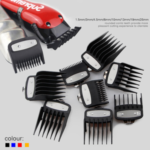 Image 2 - Universal gold electroplating electric hair clipper limit comb Guide Attachment 8 piece hair clipper caliper accessories