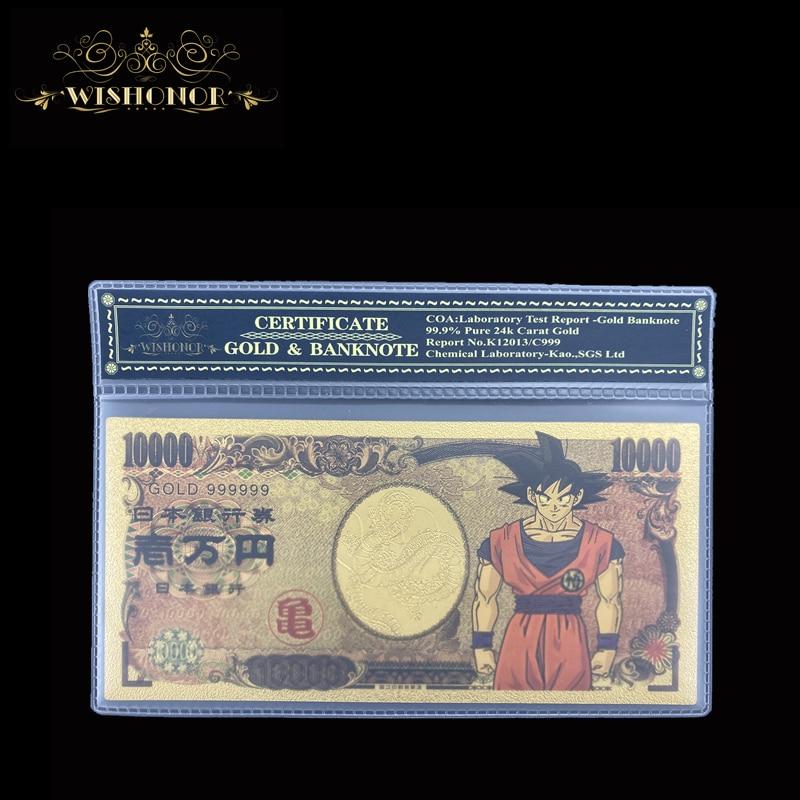 1 pces 2020 novo japão anime cédula yen dinheiro de cédula com quadro para a coleção