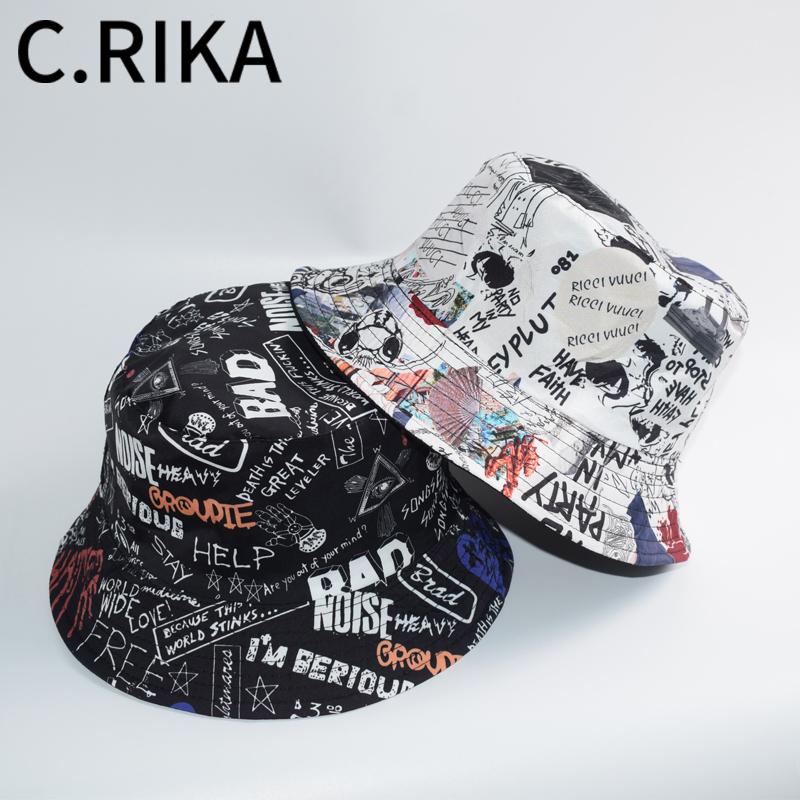 Панама хлопковая двусторонняя для мужчин и женщин, уличная Складная шапка с надписью, в стиле хип-хоп, Повседневная дорожная