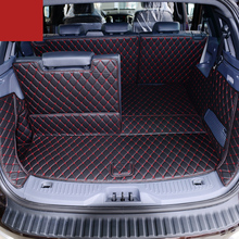lsrtw2017 wearable durable leather car trunk mat cargo liner for ford Everest 2015 2016 2017 2018 2019 2020 rug carpet luggage