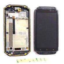 Para oukitel k10000 max display lcd com tela de toque digitador assembléia com substituição do quadro + 3m adesivos