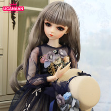1/3 BJD Doll Lifelike Girls Princess Dolls 60CM 18 Ball Joints With Full Outfits Hat Wig Dress Shoes Makeup Changeable Eyes Toys