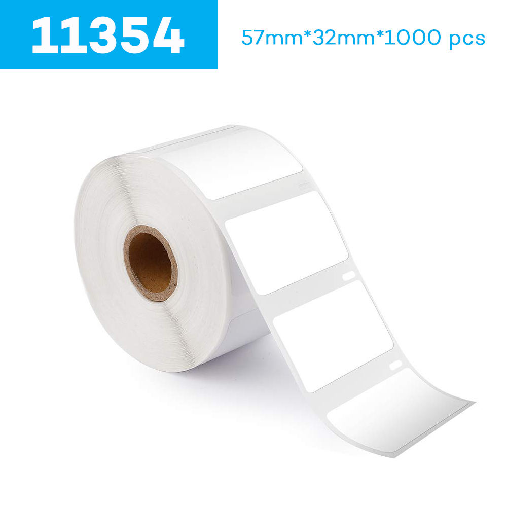 CIDY 1 Rolls Dymo Compatible LW 11354 Label 57mm*32mm 1000 Lables For LabelWriter 400 450 450Turbo Printer Seiko SLP 440 450