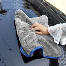 Toalla de microfibra, trapo lavado coche, limpieza automática, puerta, ventana, cuidado, gruesa y fuerte absorción de agua para coche, accesorios para automóviles
