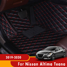 For Nissan Altima Teana 2019 2020 Car Floor Mats Auto Interiors Carpets Custom Accessories Dash Rugs Waterproof Parts Styling
