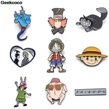 Geekcoco Funny Fashion Enamel Pin Collection Brooches Cute Art Lapel Pins Backpack Badge Collar Jewelry RK0002 geekcoco fashion enamel pin cartoon anime collection brooches art lapel pins backpack badge collar jewelry rk0028