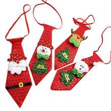 4 шт светящиеся рождественские украшения модный галстук Рождественская елка висячие украшения маленький подарок на вечерние