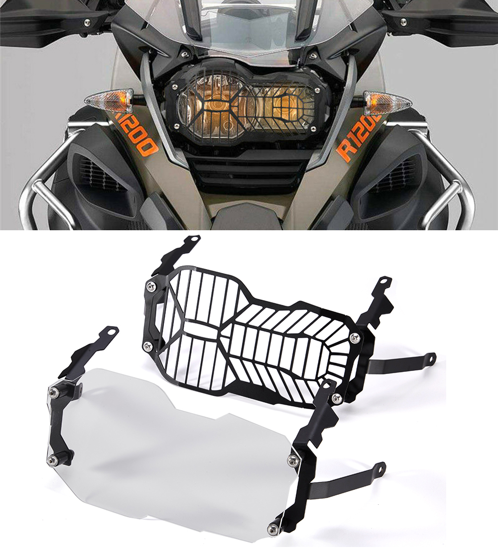 For <font><b>BMW</b></font> <font><b>R1200GS</b></font> Headlight Guard Cover Protector R1200 GS ADV <font><b>Adventure</b></font> (Water Cooled) 2012 <font><b>2013</b></font> 2014 2015 2016 2017 <font><b>2018</b></font> image