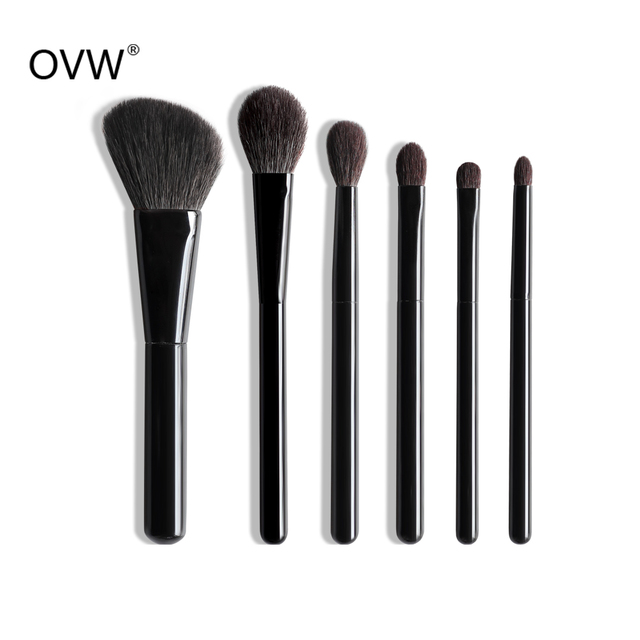 OVW 6/28 pcs Natural Goat Pile Professional Makeup Brushes Face Set Eye Shadow Blending Eyeliner Eyebrow Brush For Makeup Tool 1