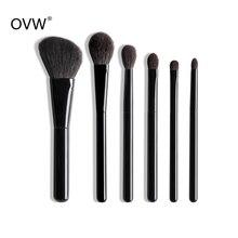 OVW 6/28 pcs Natural Goat Pile Professional Makeup Brushes F