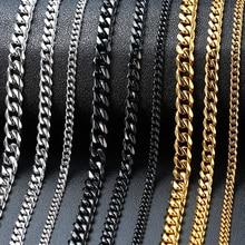 Vnox Mens Simple 3-11mm Stainless Steel Curb Cuban Link Chain Bracelets for Women Unisex