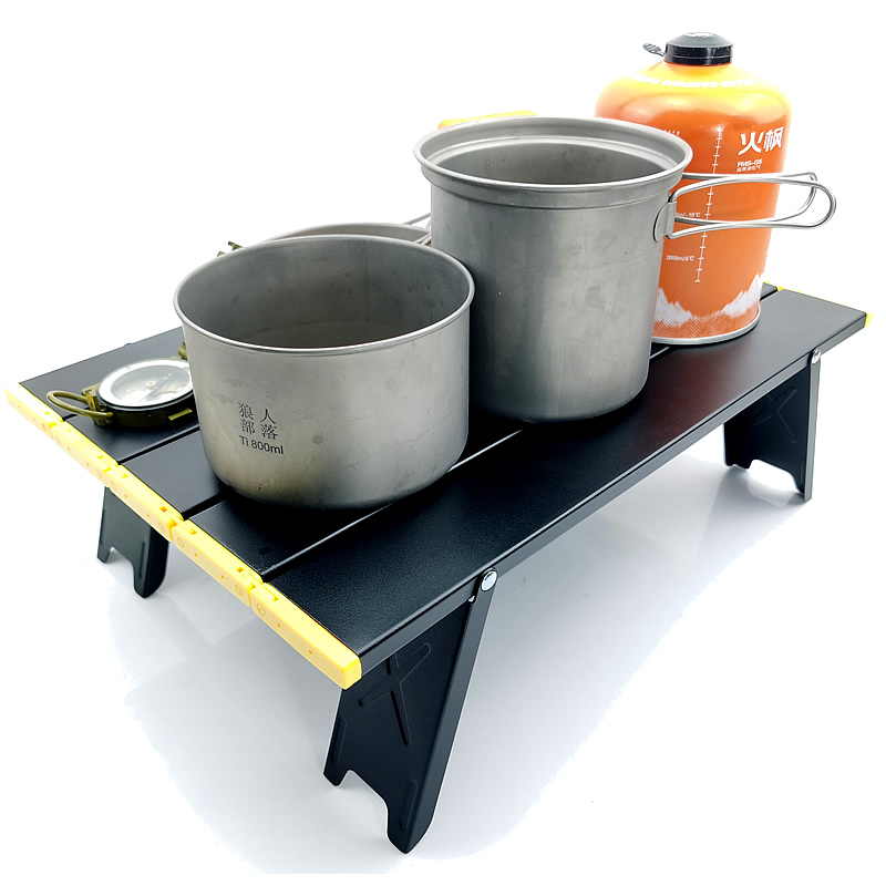 Black Mini Camping Outdoor Table