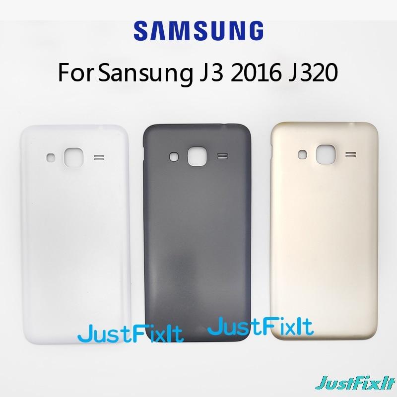 Оригинал для samsung Galaxy J3 2016 J320 sm-j320a J320F J320M J320FN задняя крышка корпуса батареи задняя крышка