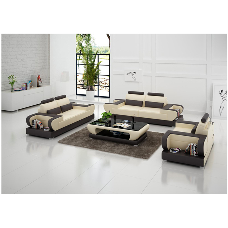 high end modern   living room  1+2+3 sectional genuine leather sofa 1