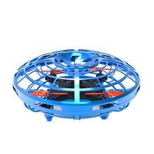 Мини Дрон инфракрасный датчик НЛО летающая игрушка индукционный