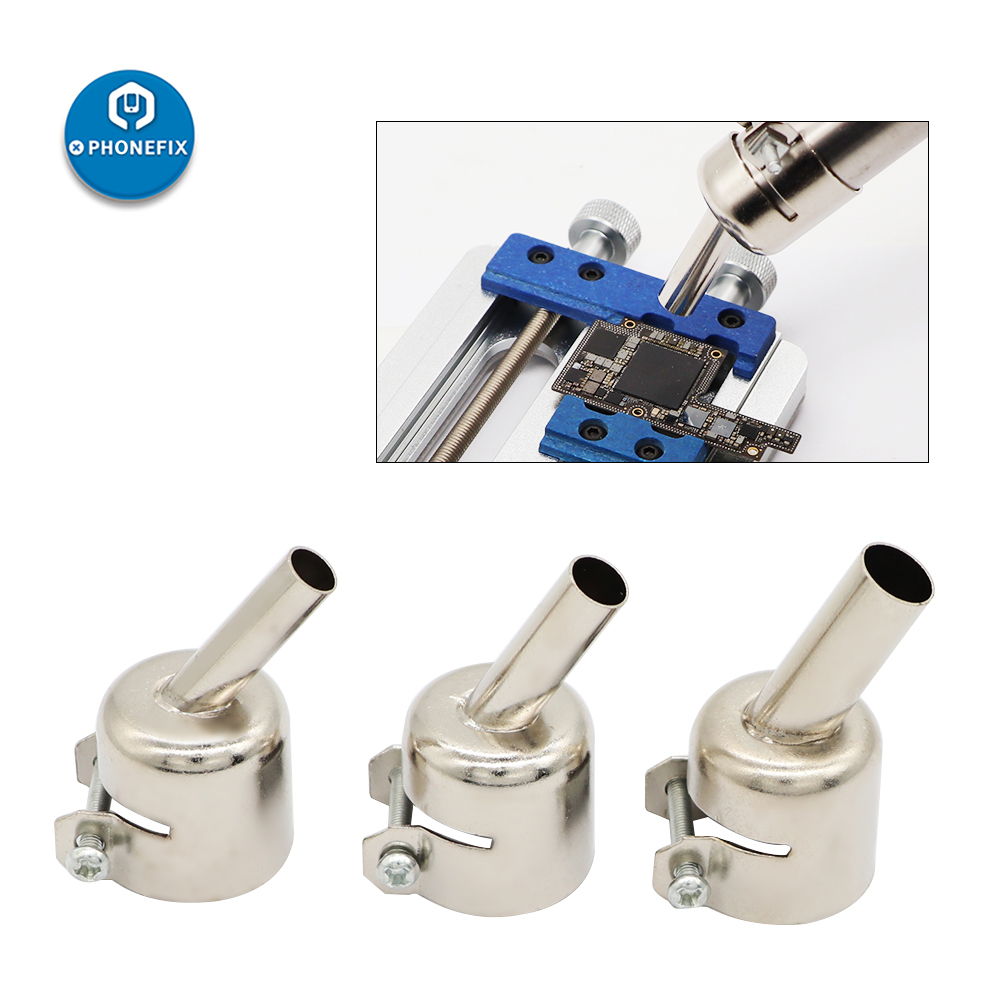 PHONEFIX 45 Degree Nozzles 3/4/5/7/8/10mm Hot Air Gun Curved Nozzles Replaceable For Hot Air Soldering Station