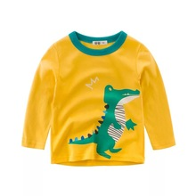 Kids Boys t-Shirts Long-Sleeve Tees Animal Children Cartoon Casual Autumn Spring Cotton Dinosaur Print Toddler Tops Clothing