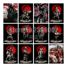 Gepantserde Samurai 5D DIY Diamant Schilderij Vol Mozaïek Ninja Muurstickers Diamond Borduren Handwerken Home Decor Christmas Gift(China)