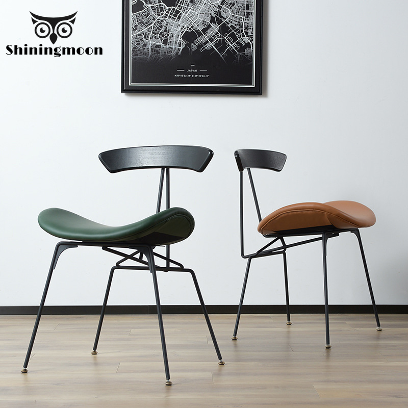 Minimalist Modern Furniture Chair Nordic Chaise Scandinave Creative Iron Industrial  Dining Chair  Office Retro Chair Leisure