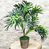 36cm 3 Fork Artificial Palm Tree Branch Green Fake Tropical Plants Indoor Rare Potted Hotel Office Desktop Shop Home Deco Plants