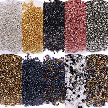 11/0 miyuki delica plântula de vidro 1.3x1.6mm espaçador uniforme cor metálica contas de vidro para diy jóias decorativas 10g 1800 pçs