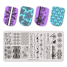 Stencil-Tool Template Nail Stainless-Steel SHOPANTS NEW Stamping Festival Happy New-Year