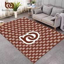 BeddingOutlet Angepasst Große Teppiche für Wohnzimmer POD Druck auf Nachfrage Spielen Boden Matte Nach Maß DIY Schlafzimmer Bereich Teppich
