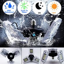E27 LED Lamp Deformable Bulb Waterproof 60W 80W 100W No Flicker Lights Lights For Gas Station Canopy Workshop Football Field