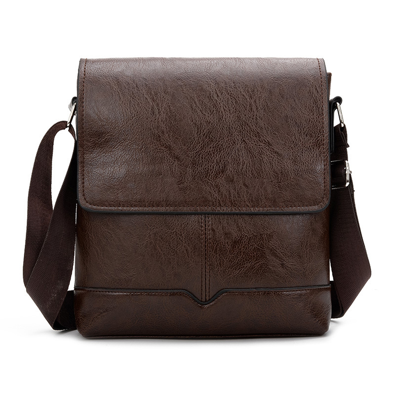 Retro Leather Crossbody Bag Men Casual Business Notebook Shoulder Bags Male Small Mens Pu Leather Flap Cross Body Pouch Travel