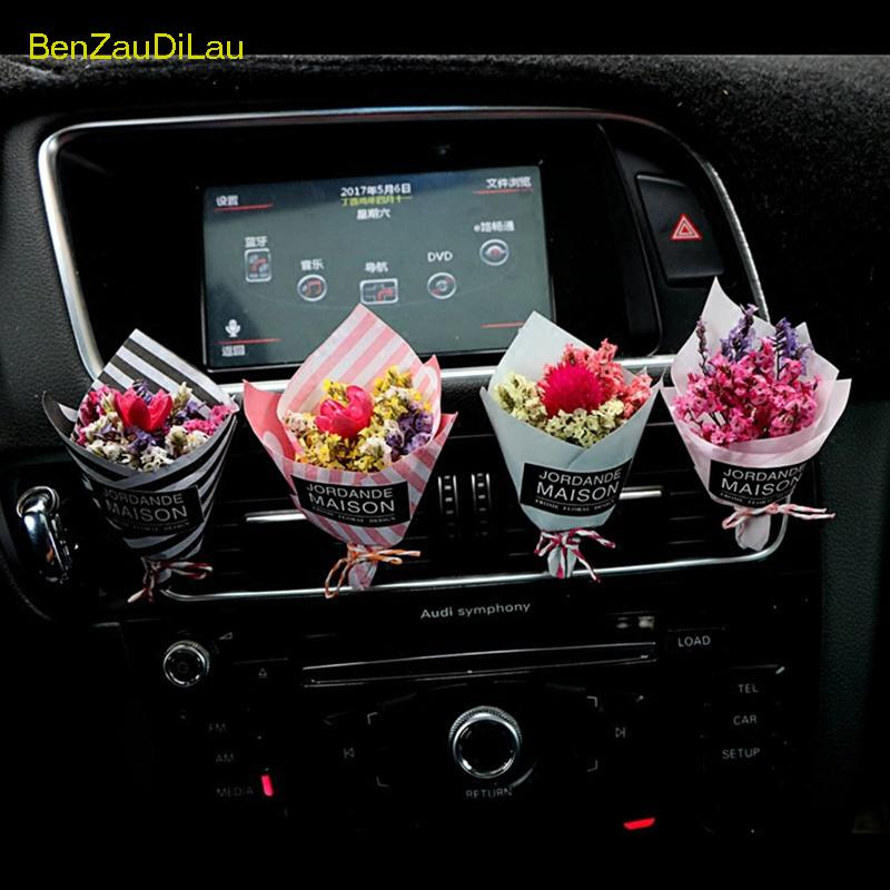 Perfume-Clip Car-Ornaments Flower Air-Conditioning Auto-Air-Freshener Creative Outlet