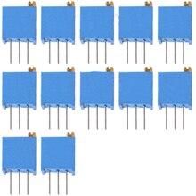 20 шт./лот 3296 Вт потенциометр 10 к 100 500 Ом 1 к 2 к 20 к переменный резистор 3296 50 к 100 к 200 к 500 к 1 м ом Триммер потенциометры