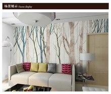 Estilo nórdico grande fresco sala de estar quarto sofá tv fundo da parede de madeira pintados à mão papel de parede