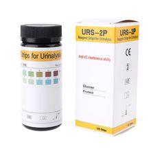100 полоски тест-полоски для мочи тест-полоски для Глюкоза белок анти-VC реагент полоски для анализа мочи er URS-2P анти-VC помехи