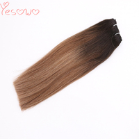 Yesowo 14Inch 22Inch Indian Cuticle Aligned Virgin Hair Bundles 100g 1b/6/27# Straight Ombre Weave Human Hair Weft