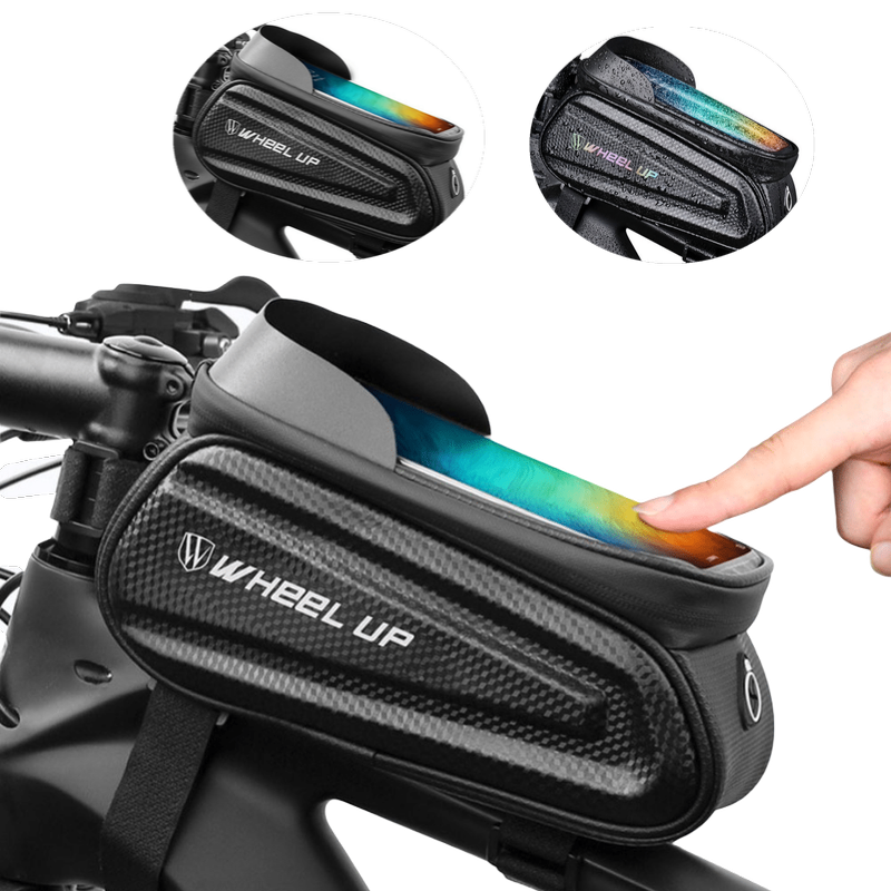 New Rainproof Bicycle Bag MTB Frame Front Top Tube Bag Reflective 7in Phone Case Touchscreen Bag Bike Accessories