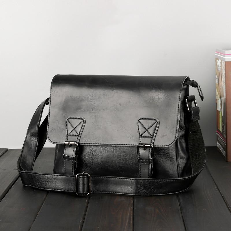 Latest Arrival Black Leather Messenger Bag Mens Cross Body Shoulder Bags Luxury Business Envelope Bag Male Satchel Brown Bags