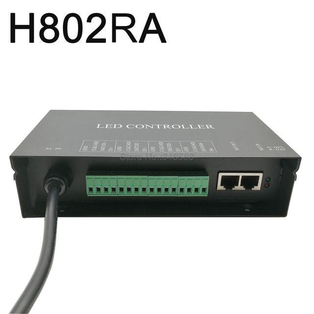 H802RA 4 منافذ (4096 بكسل) Artnet تحكم DMX Artnet تحكم WS2801 WS2811 Artnet مادريكس وحدة تحكم في البكسل مصباح ليد