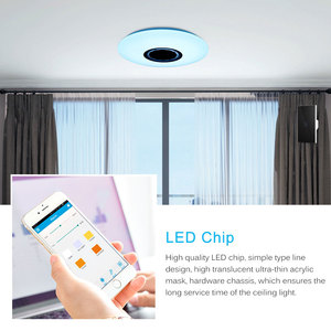 Image 3 - Smart LED Ceiling Lights RGB Dimmable 36W APP Remote Control Bluetooth Music Star Light Bedroom Diamond Shine Ceiling Lamp