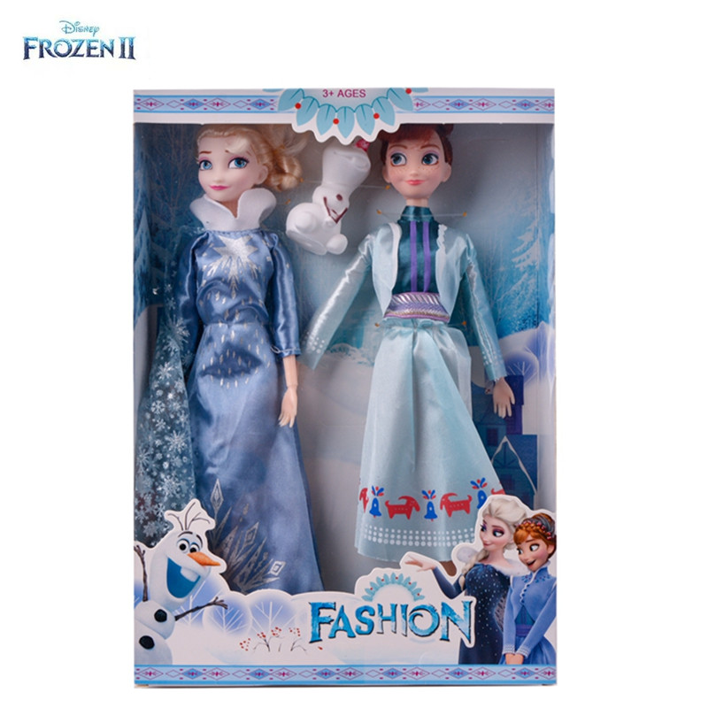 Brand New Disney <font><b>Frozen</b></font> <font><b>2</b></font> Elsa & Anna PVC Action <font><b>Figure</b></font> Olaf Kristoff Sven Anime Dolls Figurines Snow Queen Toy for kids gift image