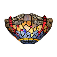 Tiffany European Luxurious Wall Lamp Stained Glass Lamp Shade Bedroom Bedside Lamp Hotel Villa Dining Room Wall Lamp