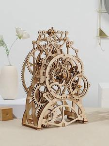 Robotime Assembly-Toy Building-Kits Mechanical-Model DIY Children Wood for Adult 4-Kinds