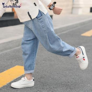 hot sale boys jeans 3-13 years old Cotton washed kids jeans Korean pants for baby boys jeans kids Leisure loose toddler jeans boys contrast pocket jeans