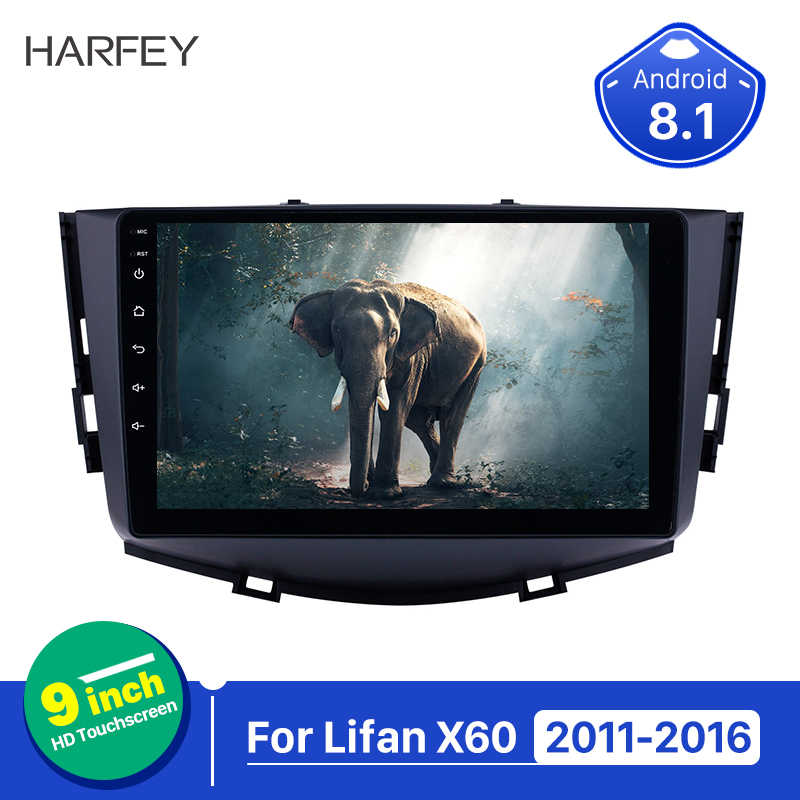 Harfey 2 din Touchscreen autoradio Android 8.1 for Lifan X60 2011-2016 GPS Navigation 9 inch Radio with WIFI support Carplay