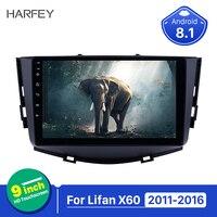 Harfey 2 din Touchscreen autoradio Android 8.1 for Lifan X60 2011 2016 GPS Navigation 9 inch Radio with WIFI support Carplay
