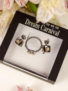 Dreamcarnival1989 Earrings-Set Zircon Girls Jewelry Women Square for Hot Pick Dating