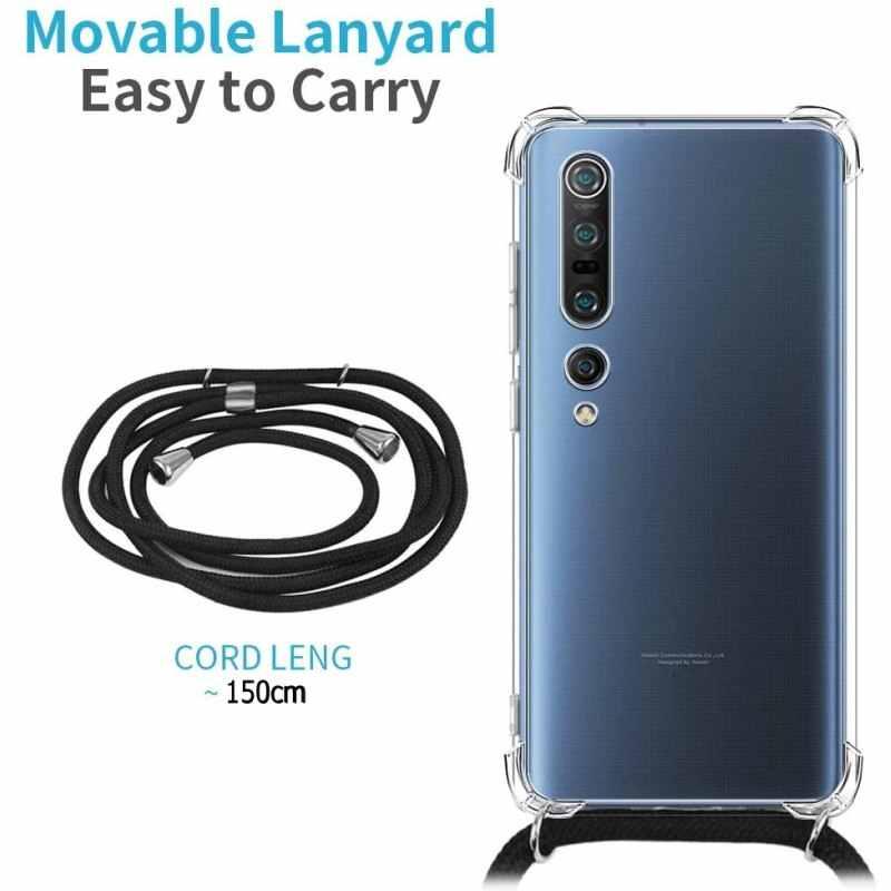 Selempang untuk Huawei Honor 20 Pro 10i 20i Kehormatan 8A 8X 8S Y5 Y6 Y7 Y9 2019 Clear lanyard Kalung Bahu Tali Tali Kasus