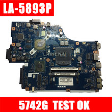LA-5891P LA-5893P LA-5894P motherboard for Acer Aspire 5742G 5740 5741 motherboard with video card Test work 100% original(China)