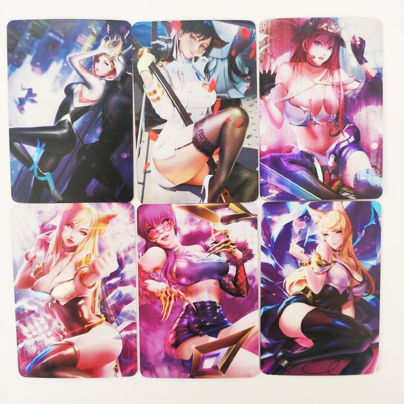 27pcs/set Sexy Beauty Kda Mai Shiranui Hancock Female Character Hobbies Collectibles Game Collection Anime Cards Free Shipping 2